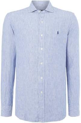 Polo Ralph Lauren Men's Long sleeve linen slim fit shirt