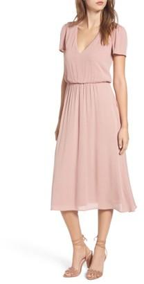 Women's Wayf Blouson Midi Dress $69 thestylecure.com