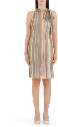 Missoni Stripe Tie Neck Sweater Dress