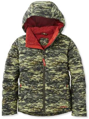 L.L. Bean Boys' L.L.Bean Fleece-Lined Down Jacket, Print