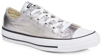 Converse Silver 'Ctas Ox' Trainers
