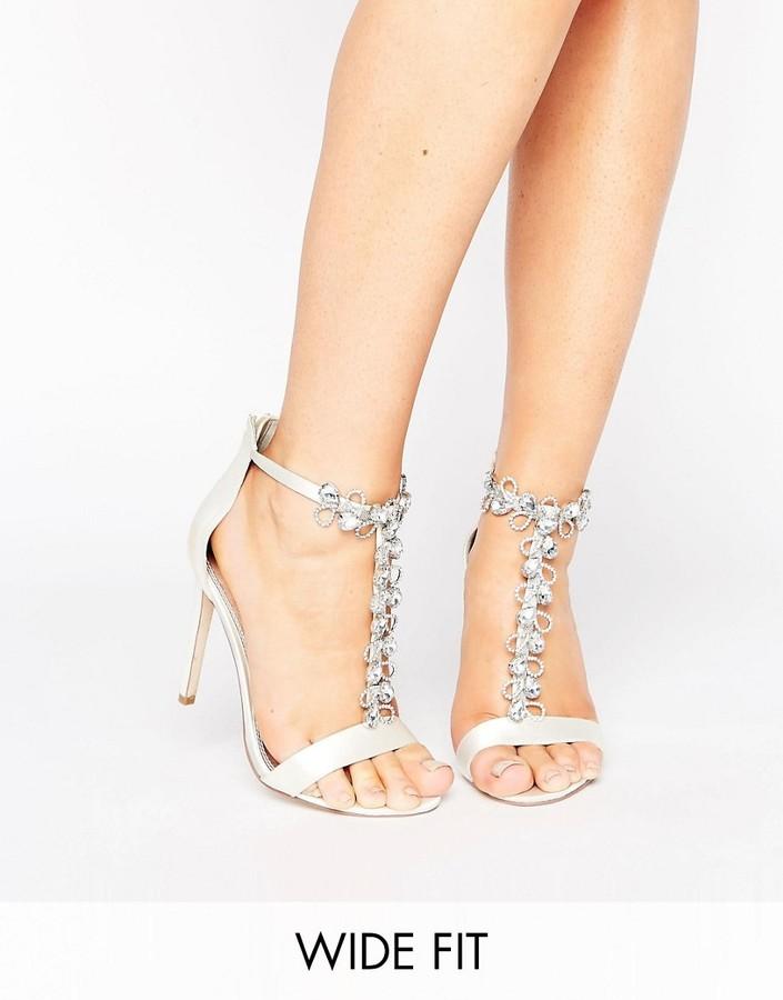 AsosASOS HERMOSA Wide Fit Bridal Heeled Sandals