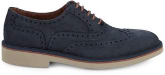 Canali Round-Toe Suede Oxfords