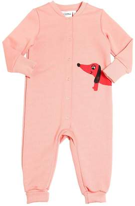 Mini Rodini Dog Organic Cotton Sweatshirt Romper
