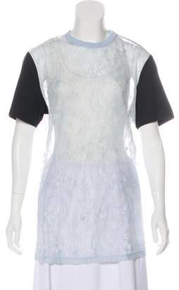 Givenchy Lace Short Sleeve Top