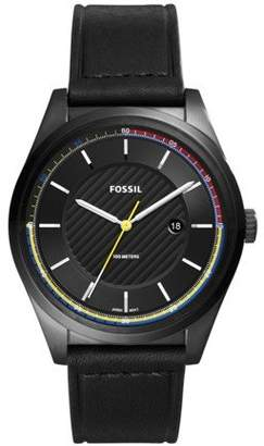 Fossil Men's 'Mathis' Quartz Stainless Steel and Leather Casual Watch