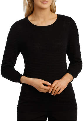 Must Have Circle Textured 3/4 Slv Jumper