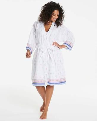 Pretty Secrets Cotton Wrap Gown L38
