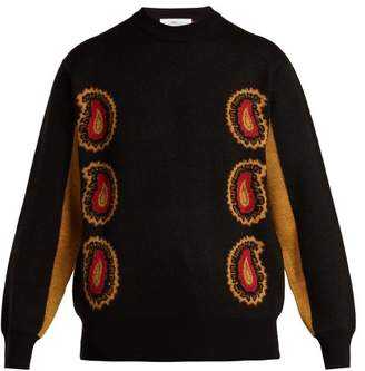 Toga - Paisley Intarsia Knit Wool Sweater - Womens - Black Multi