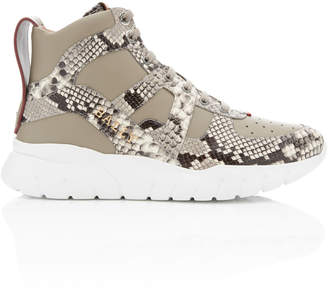 Bally Birko Snake-Effect Leather High-Top Sneakers