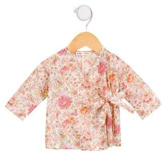 Babe & Tess Girls' Floral Wrap Top w/ Tags