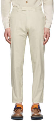 Dries Van Noten Off-White Peeler Trousers