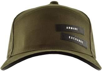 Armani Exchange Logo Cap Green