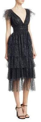 Marchesa Glitter Tulle Dress