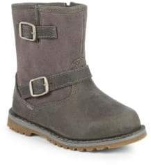 UGG Little Boy's T Hardwell Leather Buckle Boots