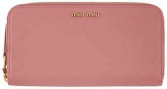 Miu Miu Pink Continental Wallet