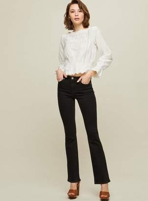 Miss Selfridge Lizzie high waist skinny black flare hem jeans