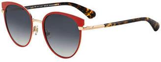Kate Spade Janalee Cat Eye Metal & Acetate Sunglasses