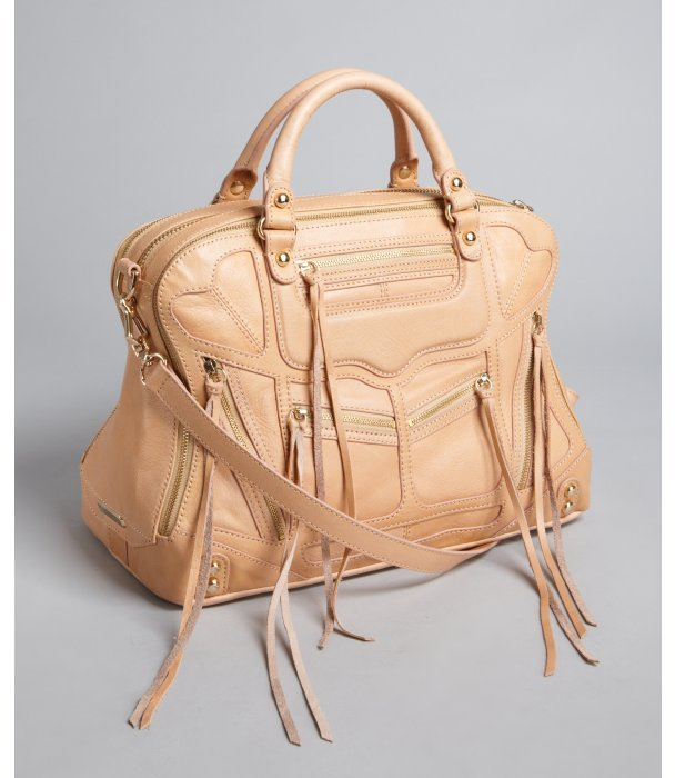 Rebecca Minkoff sand leather 'Jealous' zip detail satchel