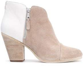 Rag & Bone Leather-Paneled Suede Ankle Boots