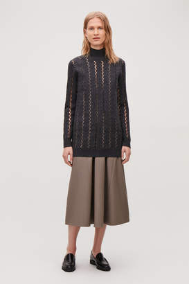 Cos CUT-OUT BOILED WOOL TUNIC