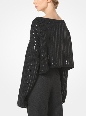 Michael Kors Sequined Cashmere Pullover