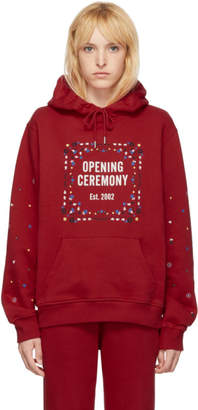 Opening Ceremony Red Unisex Bandana Box Logo Hoodie