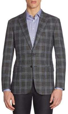 Emporio Armani Regular-Fit Plaid Sportcoat