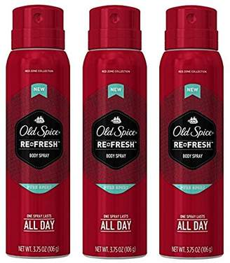 Old Spice Red Zone Re-Fresh Body Spray, Pure Sport 3.75 by
