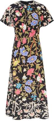 Peter Pilotto Floral Cape Sleeve Dress