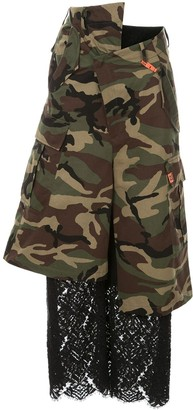 Puma Maison Yasuhiro lace camouflage cropped trousers