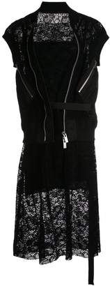 Sacai Mixed roll-neck vest twofer dress