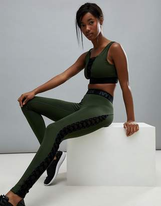 Ivy Park Active Lace Up Leggings In Khaki