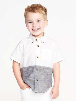 Old Navy Color-Blocked Oxford Shirt for Toddler Boys