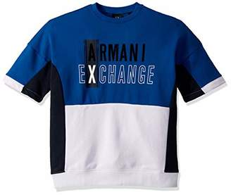 Armani Exchange A X Men's Short Sleeve Colorblock Jumper with Chest Logo