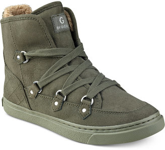 G by GUESS Otter Lace-up Hiker Sneakers $79 thestylecure.com