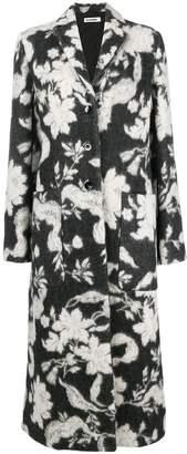 Jil Sander longline floral coat