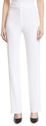 Elie Tahari Leena High-Waist Straight-Leg Pants