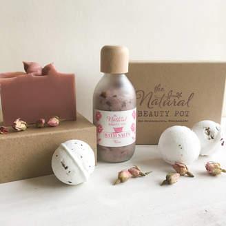 The Natural Beauty Pot Rose Bath Time Gift Set