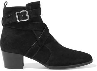Tod's Suede Ankle Boots - Black