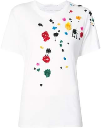 Oscar de la Renta embroidered T-shirt