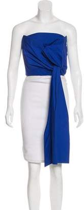 DELPOZO Sleeveless Tie-Accented Bustier w/ Tags