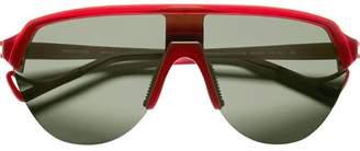 District Vision Black and red Nagata sunglasses