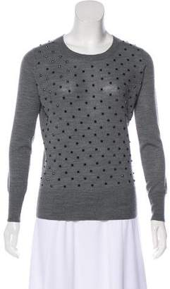 Markus Lupfer Studded Merino Wool Top