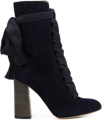 Chloé lace-up boots - women - Suede - 36