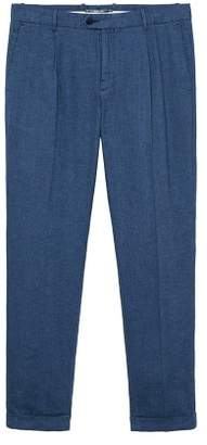 Mango Man MANGO MAN Pleated linen trousers