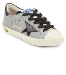 Girl's Suede Glittered Back Sneakers $265 thestylecure.com
