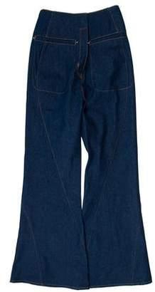 Esteban Cortazar High-Rise Flared Jeans w/ Tags