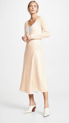 Roche Ryan Front Tie Cashmere Dress
