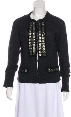 Tory Burch Wool Embellished Cardigan